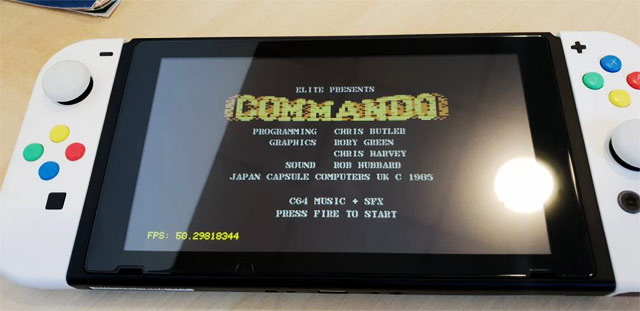 Commodore64 emulato su Nintendo Switch