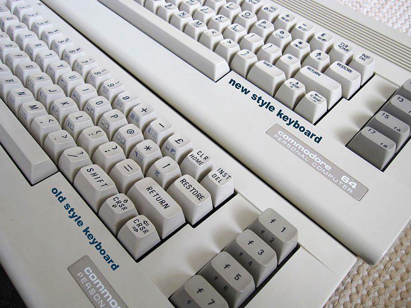 differenza tastiera Commodore 64C
