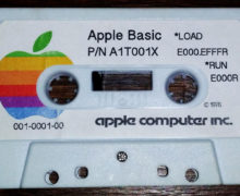 Apple Integer BASIC in cassetta con il nuovo logo (1977)