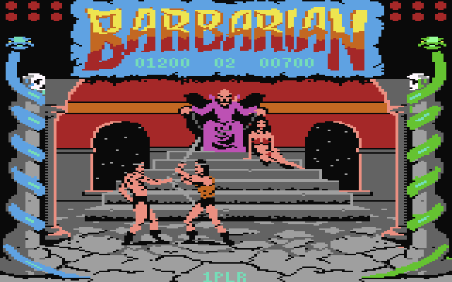 barbarian screenshot Commodore 64