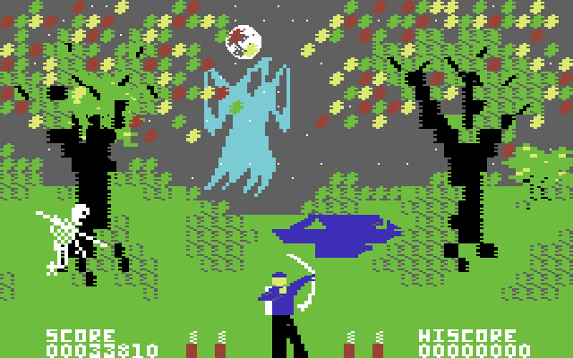 forbidden forest screenshot Commodore 64
