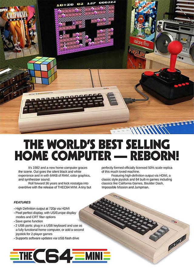 C64 Mini pubblicità