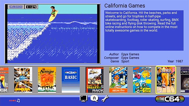 C64 Mini software GUI