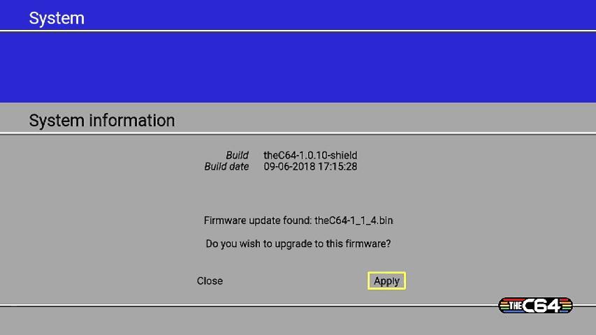 C64 mini firmware update