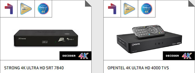 decoder satellitare 4K tivusat