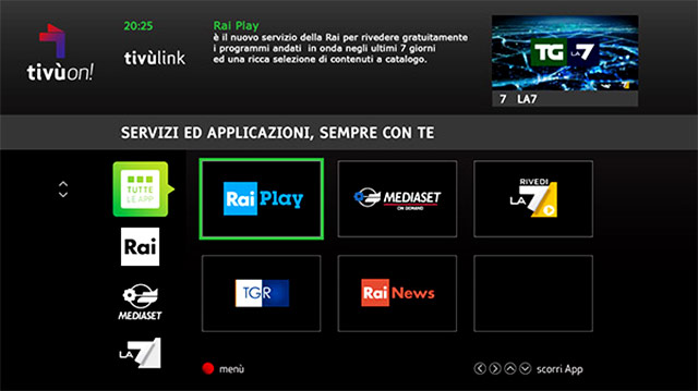 tivuon app tv satellitare